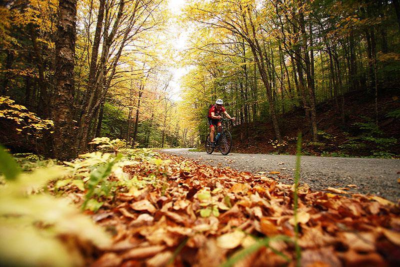 Images of biker in Braintree, Vermont