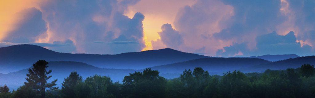 Mountain views from Braintree Vermont. Photo courtesy of Bob Eddy.
